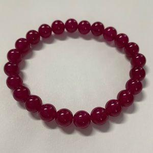 Jewelry - Purple agate bead stretch bracelets unisex. New